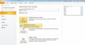 Configurar Outlook para no saturar el servidor. Paso 1