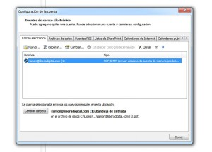 Configurar Outlook para no saturar el servidor. Paso 2