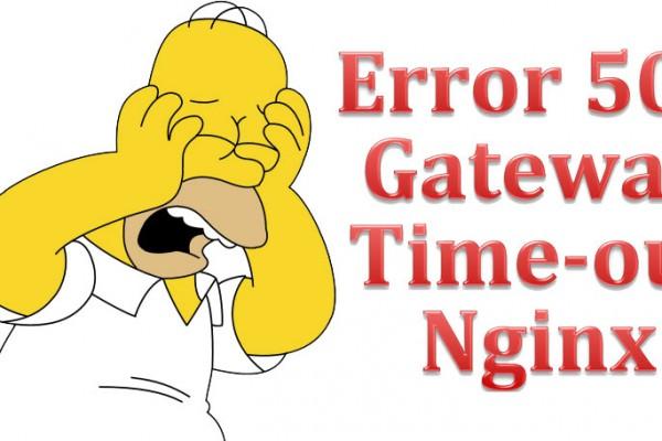 Error 504 Gateway Time-out Nginx en Plesk