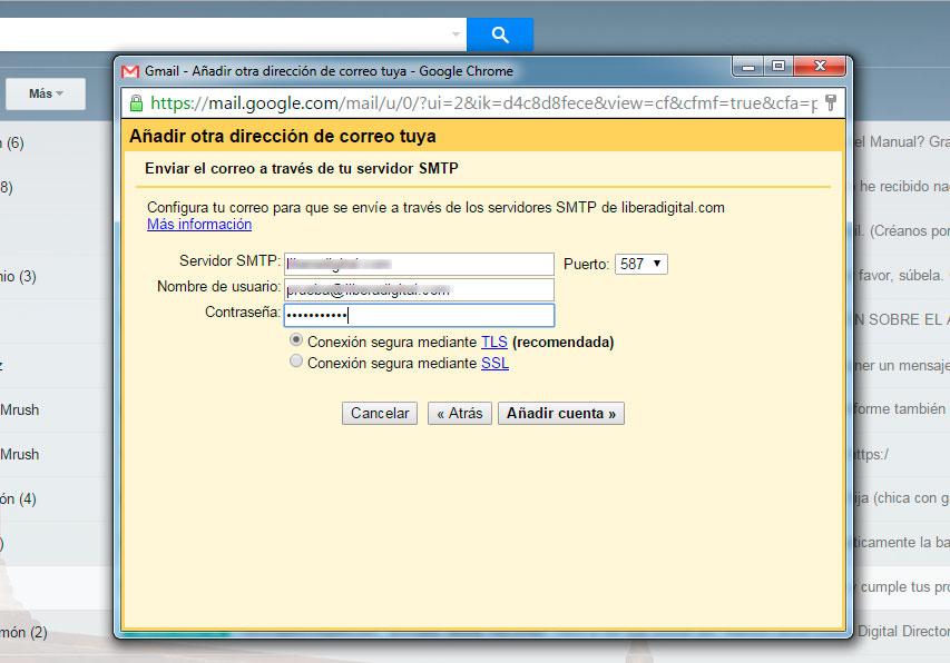 Configurar SMTP 2